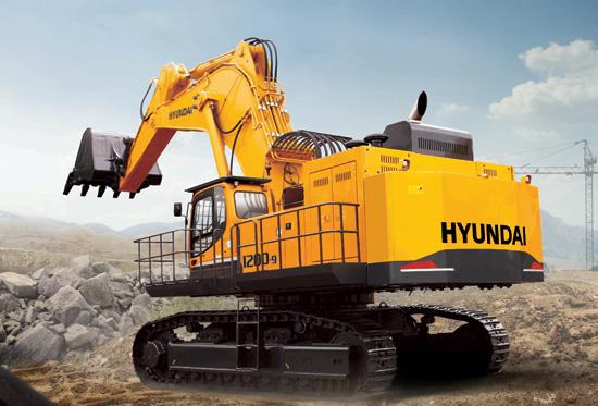 现代120吨级超大型挖掘机正式上市