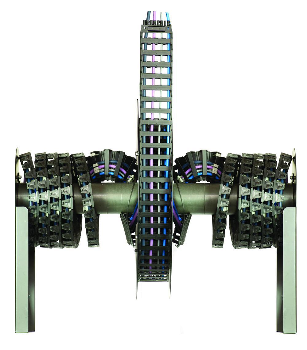 可缩进的拖链系统E-spool